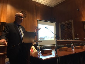 Society member John A. McLachlan, PhD, speaks at the Congressional briefing celebrating 25 years of research on endocrine-disrupting chemicals on Sept. 21, 2016.